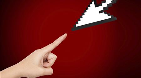 Hand Reaching Arrow Cursor